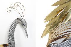Curtis Jer Curtis Jere Brass Wall Mounted Heron Sculpture 1988 - 1220937