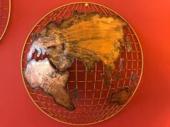 Curtis Jer Curtis Jere Globe Wall Sculpture - 1008919