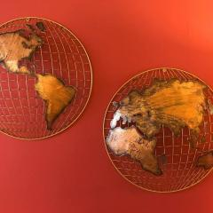 Curtis Jer Curtis Jere Globe Wall Sculpture - 1008922