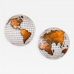 Curtis Jer Curtis Jere Globe Wall Sculpture - 1009752