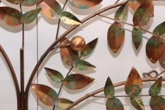 Curtis Jer Curtis Jere Tree Of Life Copper Wall Sculpture - 1689469