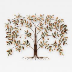 Curtis Jer Curtis Jere Tree Of Life Copper Wall Sculpture - 1693235