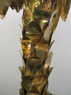 Curtis Jer Giant Curtis Jere Sculptural Brass Palm Tree Torch Cut Mid Century Modern - 1684858