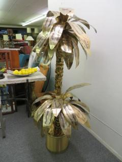 Curtis Jer Giant Curtis Jere Sculptural Brass Palm Tree Torch Cut Mid Century Modern - 1684861