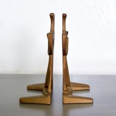 Curtis Jer Japanese Art Organic Modern Bookends Gold Gilt on Cast Iron 1960s JAPAN - 1983604