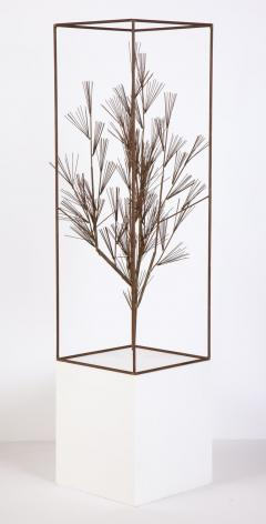 Curtis Jer Jere Sculpture of Abstract Tree in Frame - 1116686