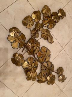 Curtis Jer LARGE BRUTALIST FLOWERS WALL SCULPTURE - 1845435