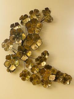 Curtis Jer LARGE BRUTALIST FLOWERS WALL SCULPTURE - 1845437