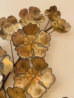 Curtis Jer LARGE BRUTALIST FLOWERS WALL SCULPTURE - 1845440