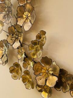 Curtis Jer LARGE BRUTALIST FLOWERS WALL SCULPTURE - 1845441