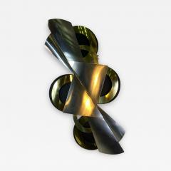 Curtis Jer MODERNIST BLACK BRASS AND CHROME WALL SCULPTURE BY CURTIS JERE - 1620598