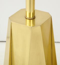 Curtis Jer Mid Century Modern Faceted Brass Table Lamps - 1267113