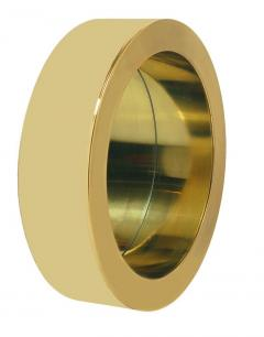 Curtis Jer Mid Century Modern Large Round Porthole Wall Mirror in Gold Brass by Curtis Jere - 1738707