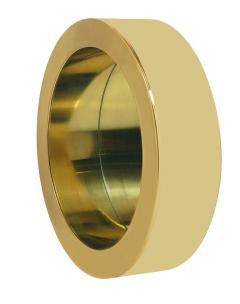 Curtis Jer Mid Century Modern Large Round Porthole Wall Mirror in Gold Brass by Curtis Jere - 1738713