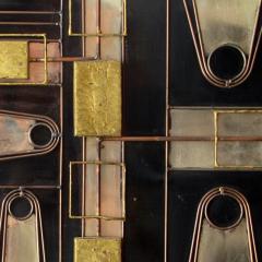 Curtis Jer Rare Curtis Jere Wall Art Sculpture Bronze Brass Enamel and Steel - 687797