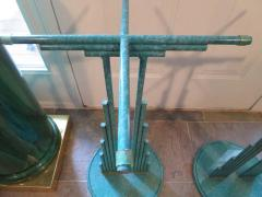 Curtis Jer Rare Pair of Curtis Jere Memphis Style Side Tables Pedestals Mid Century Modern - 1262311
