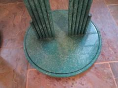 Curtis Jer Rare Pair of Curtis Jere Memphis Style Side Tables Pedestals Mid Century Modern - 1262314