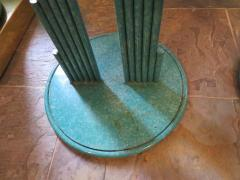 Curtis Jer Rare Pair of Curtis Jere Memphis Style Side Tables Pedestals Mid Century Modern - 1262316