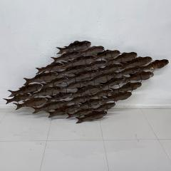 Curtis Jer School of Fish Metal Wall Art Brutalist Sculpture 1970s Modern Vintage - 2018350