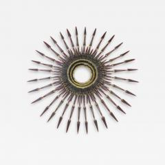 Curtis Jer Stunning C Jere Style Brutalist Starburst Nail Wall Sculpture Mid Century 1970s - 1619258