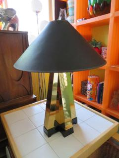 Curtis Jer Wonderful Pair of Curtis Jere Style Brass Table Lamps Mid Century Modern - 1629748