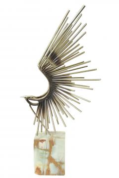 Curtis Jere Stylized Metal Bird Sculpture by Curtis Jere - 201246