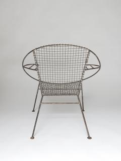 Curved Salterini Iron Steel Chair - 501393