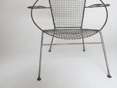 Curved Salterini Iron Steel Chair - 501394