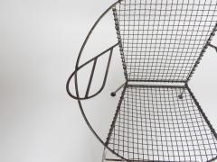 Curved Salterini Iron Steel Chair - 501395