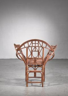 Curved hand crafted willow chair Austria - 1735935