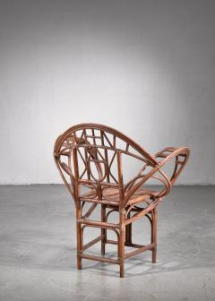 Curved hand crafted willow chair Austria - 1735936