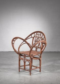 Curved hand crafted willow chair Austria - 1735938