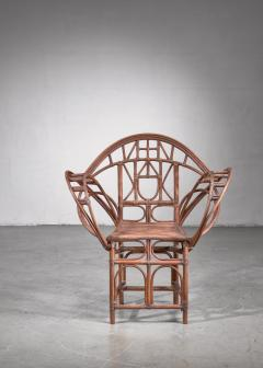 Curved hand crafted willow chair Austria - 1735939