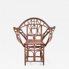 Curved hand crafted willow chair Austria - 1737031