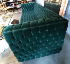 Custom Capitone Carmen Tufted Green Velvet Sofa - 383645