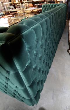 Custom Capitone Carmen Tufted Green Velvet Sofa - 383650