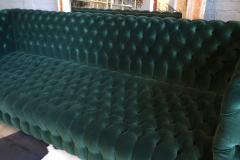 Custom Capitone Carmen Tufted Green Velvet Sofa - 383651