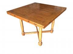 Custom Crafted Oak Drop Leaf Gate Leg Dining Game Table - 1348198