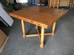Custom Crafted Oak Drop Leaf Gate Leg Dining Game Table - 1348200
