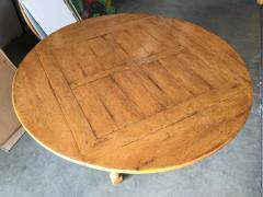 Custom Crafted Oak Drop Leaf Gate Leg Dining Game Table - 1348201