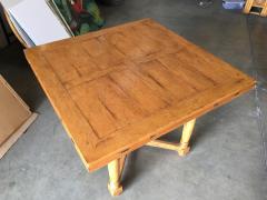 Custom Crafted Oak Drop Leaf Gate Leg Dining Game Table - 1348204