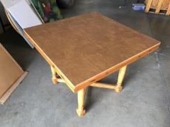 Custom Crafted Oak Drop Leaf Gate Leg Dining Game Table - 1348205