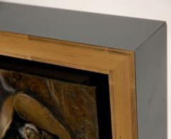 Custom Framed Relief of a Reclining Figure - 253376