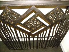 Custom French Style Iron Console Table Radiator Cover - 118272