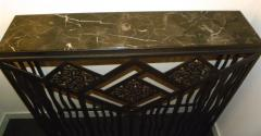 Custom French Style Iron Console Table Radiator Cover - 118273
