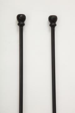 Custom Hand Forged Iron Finial Fire Poker and Shovel - 1869260