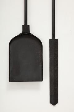 Custom Hand Forged Iron Finial Fire Poker and Shovel - 1869261
