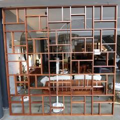 Custom Midcentury Style Geometric Room Divider - 274001
