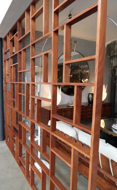Custom Midcentury Style Geometric Room Divider - 274003