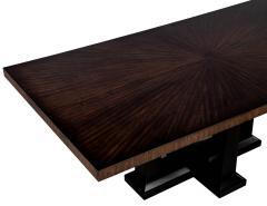Custom Modern Walnut Dining Table with Sunburst Top - 1800153
